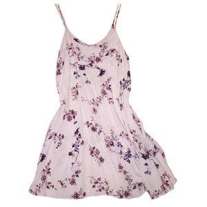 Brandy Melville Tan Floral Slip Dress